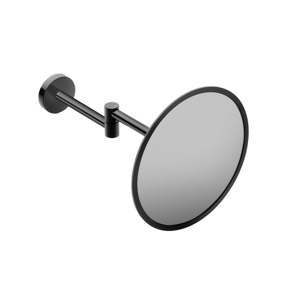 Espejo aumento Black&White – Negro brillo