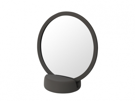 Espejo de aumento Sono es uno de los elementos de la popular línea de baño Blomus Sono.
