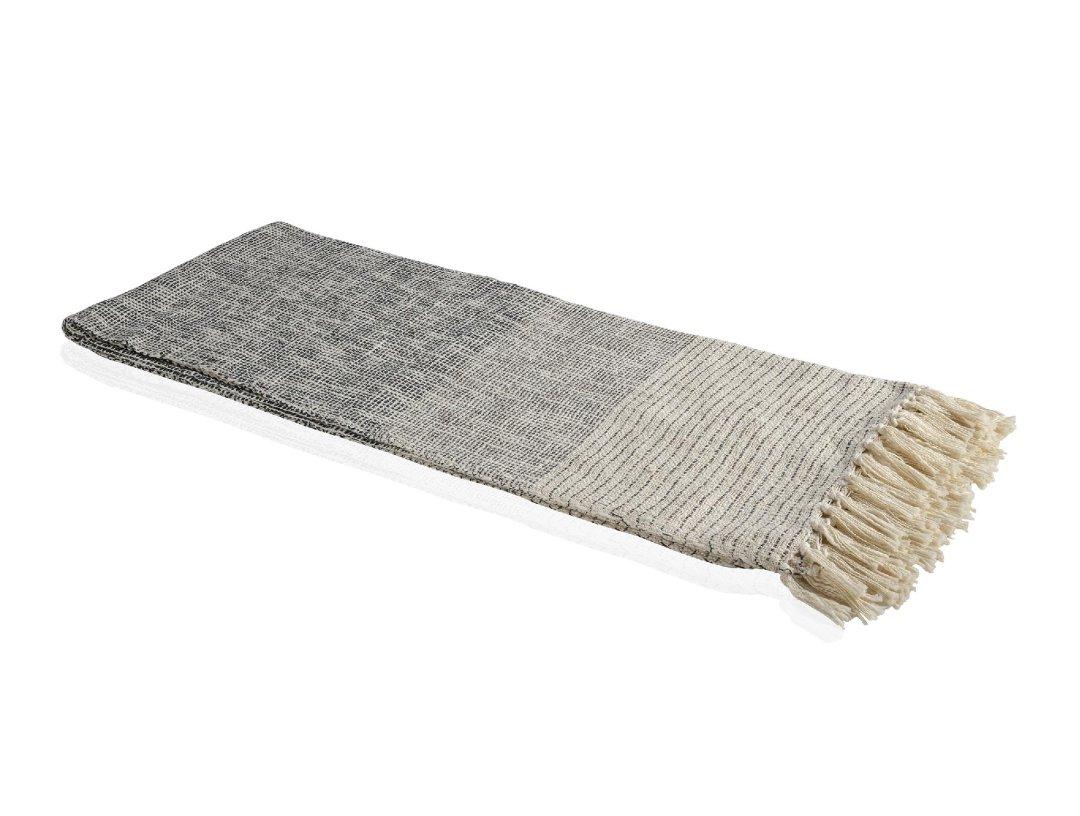 Manta de sofá gris con degradado