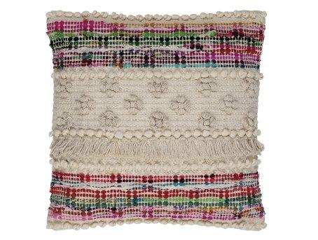 Cojín de algodón boho de colores Andrea House