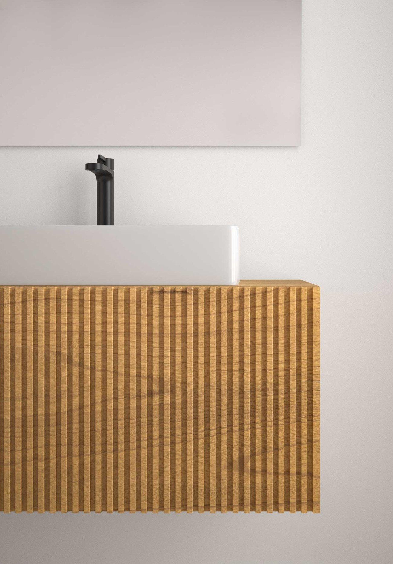 Mueble para baño C4 Steche, alistonado
