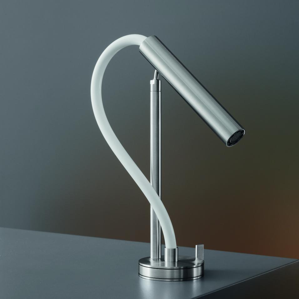 FotoGrifo de lavabo orientable Astra 02 en Acero Satinado. CEA
